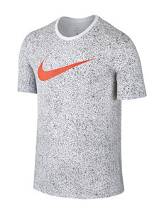 Nike White / Orange Tees & Tanks