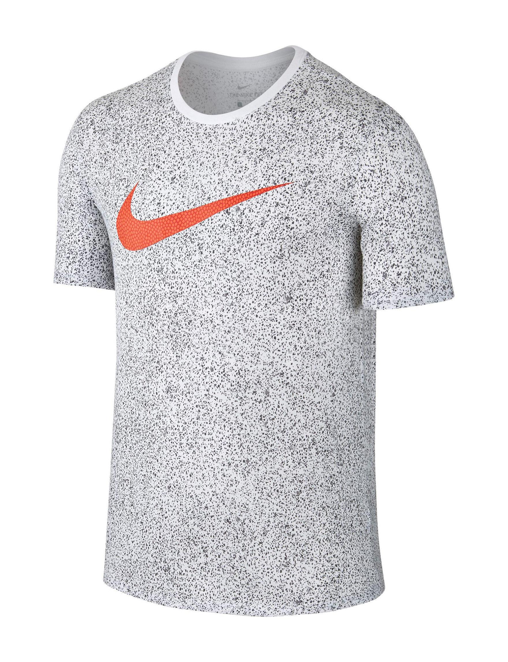 Nike White / Orange Tees & Tanks