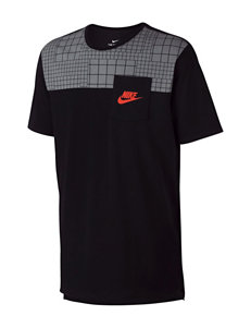 Nike Black / Orange Tees & Tanks