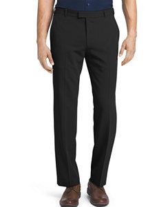 Van Heusen Charcoal Flex Flat Front Dress Pants