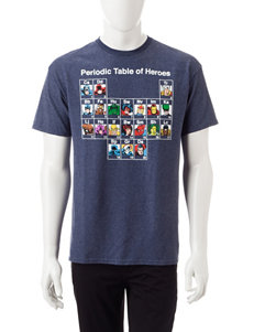 Marvel Periodic Table of Heroes Screen Print T-Shirt