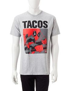 Marvel Deadpool Tacos Screen Print T-Shirt