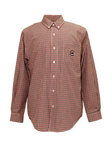 NCAA Gingham Print Game Day Woven Shirt