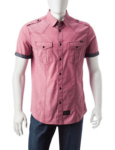 Marc Ecko Red Casual Button Down Shirts