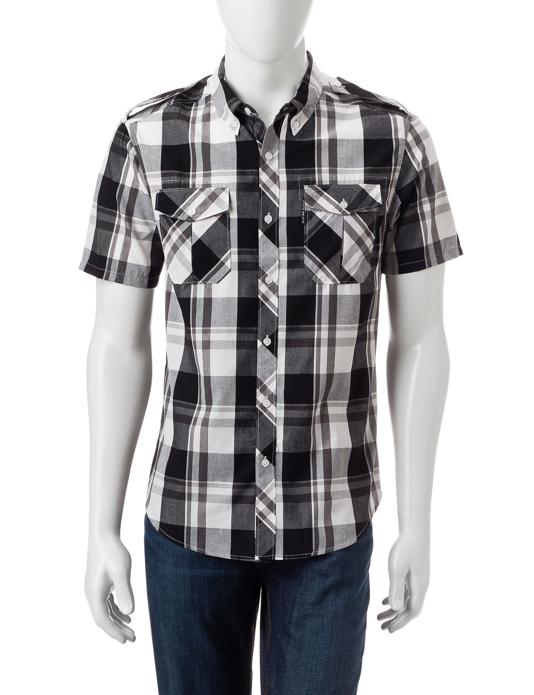 Ecko Black Casual Button Down Shirts