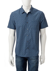 Axist Blue Casual Button Down Shirts
