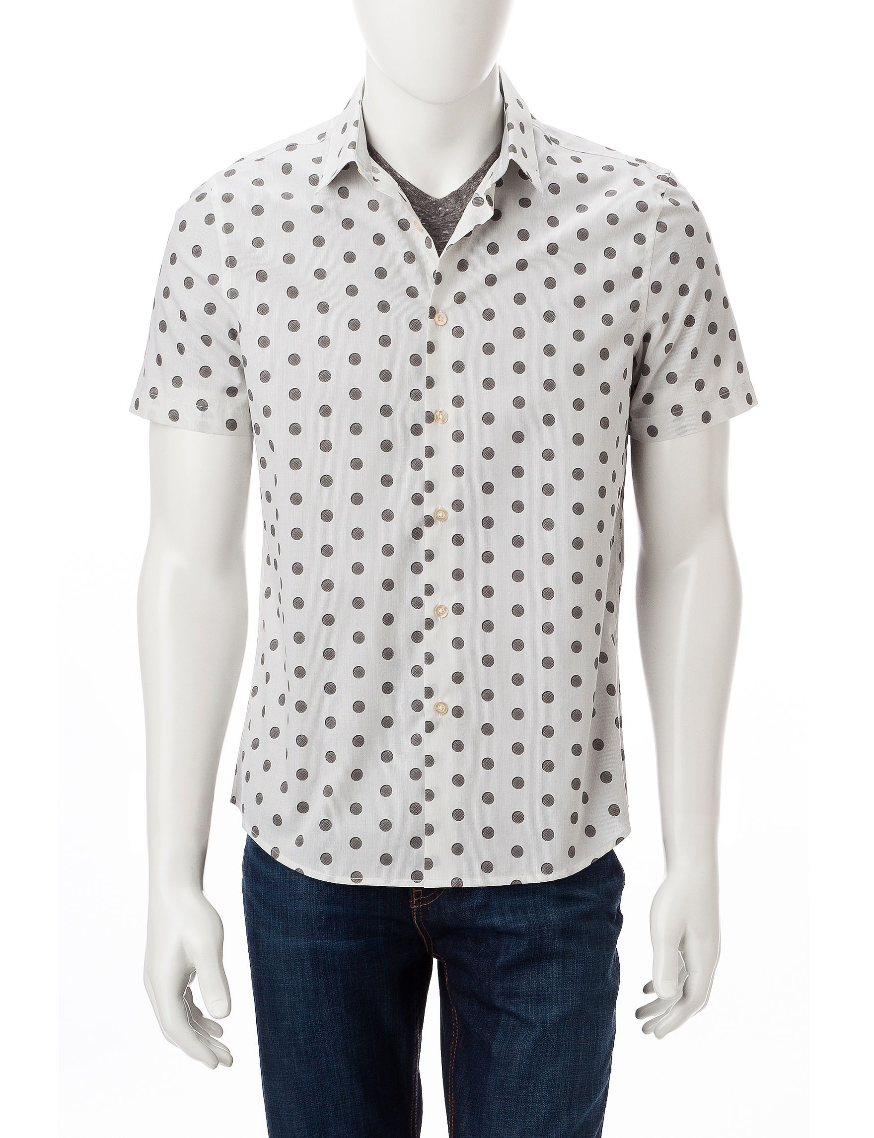 Axist Bright White Casual Button Down Shirts
