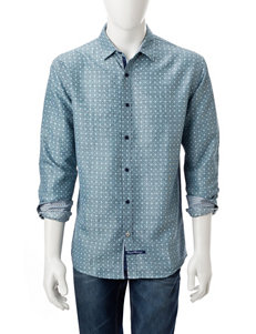 English Laundry Grey Casual Button Down Shirts