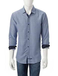 English Laundry Navy Casual Button Down Shirts