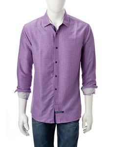 English Laundry Purple Casual Button Down Shirts