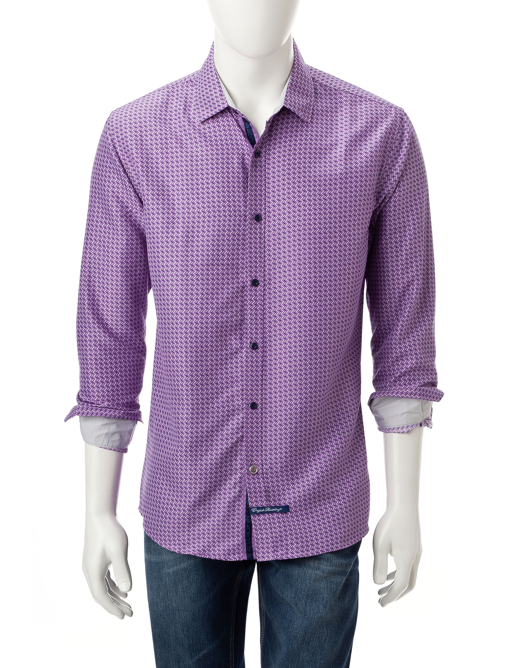 English Laundry Purple Casual Button Down Shirts
