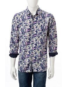 English Laundry Black Casual Button Down Shirts