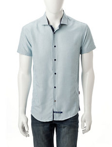 English Laundry Blue Casual Button Down Shirts