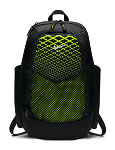 Nike Black / Lime Bookbags & Backpacks