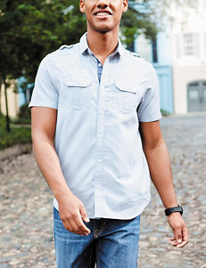 Signature Studio Grey Casual Button Down Shirts