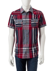 Buffalo Blu Red Plaid Casual Button Down Shirts