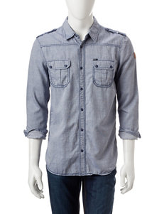 Buffalo Blu Grey Casual Button Down Shirts