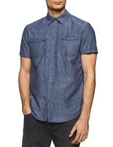Calvin Klein Navy Casual Button Down Shirts