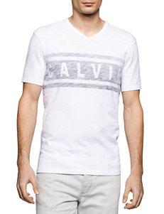 Calvin Klein White Tees & Tanks