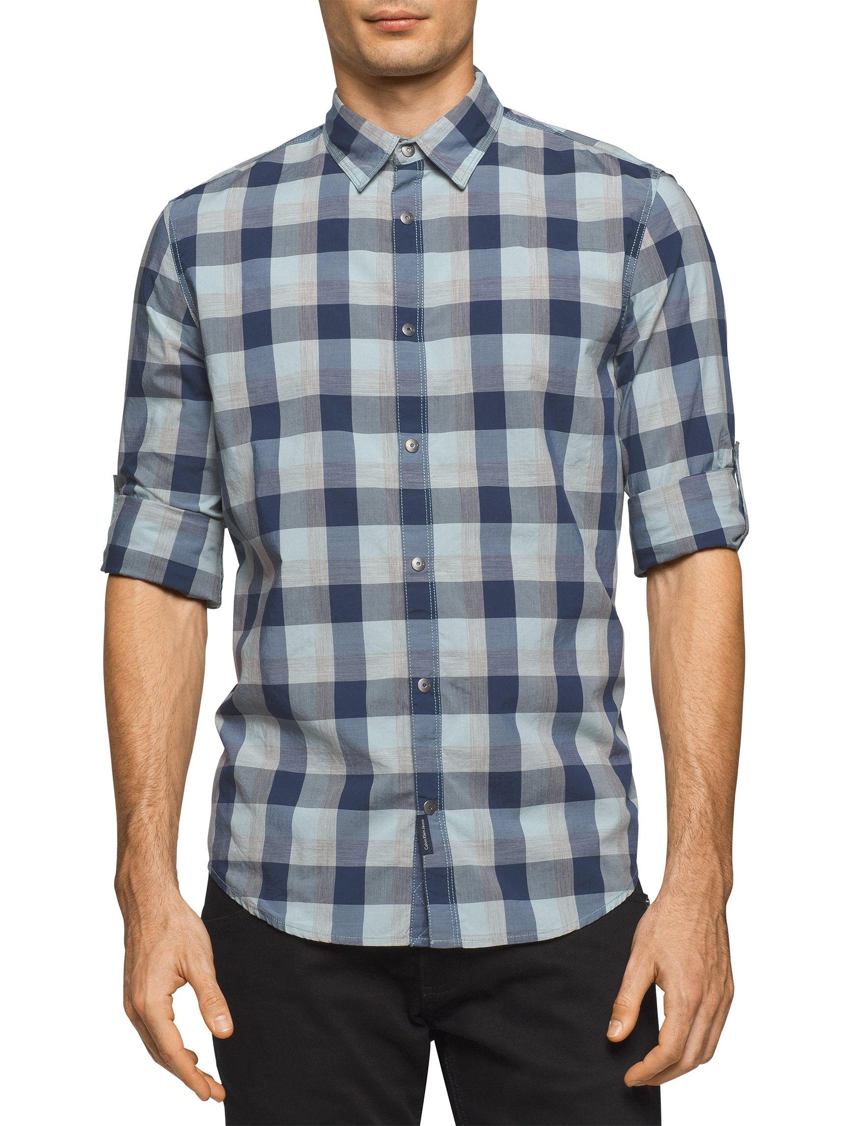 Calvin Klein Porcelain Casual Button Down Shirts