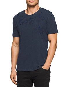 Calvin Klein Dark Blue Tees & Tanks