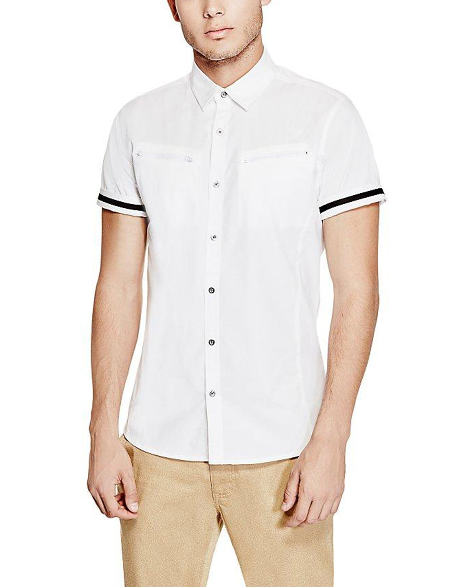 G by Guess White Casual Button Down Shirts