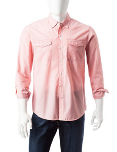 Signature Studio Apricot Casual Button Down Shirts