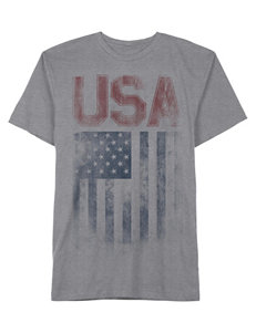 Hybrid Rugged Flag Screen Print T-shirt