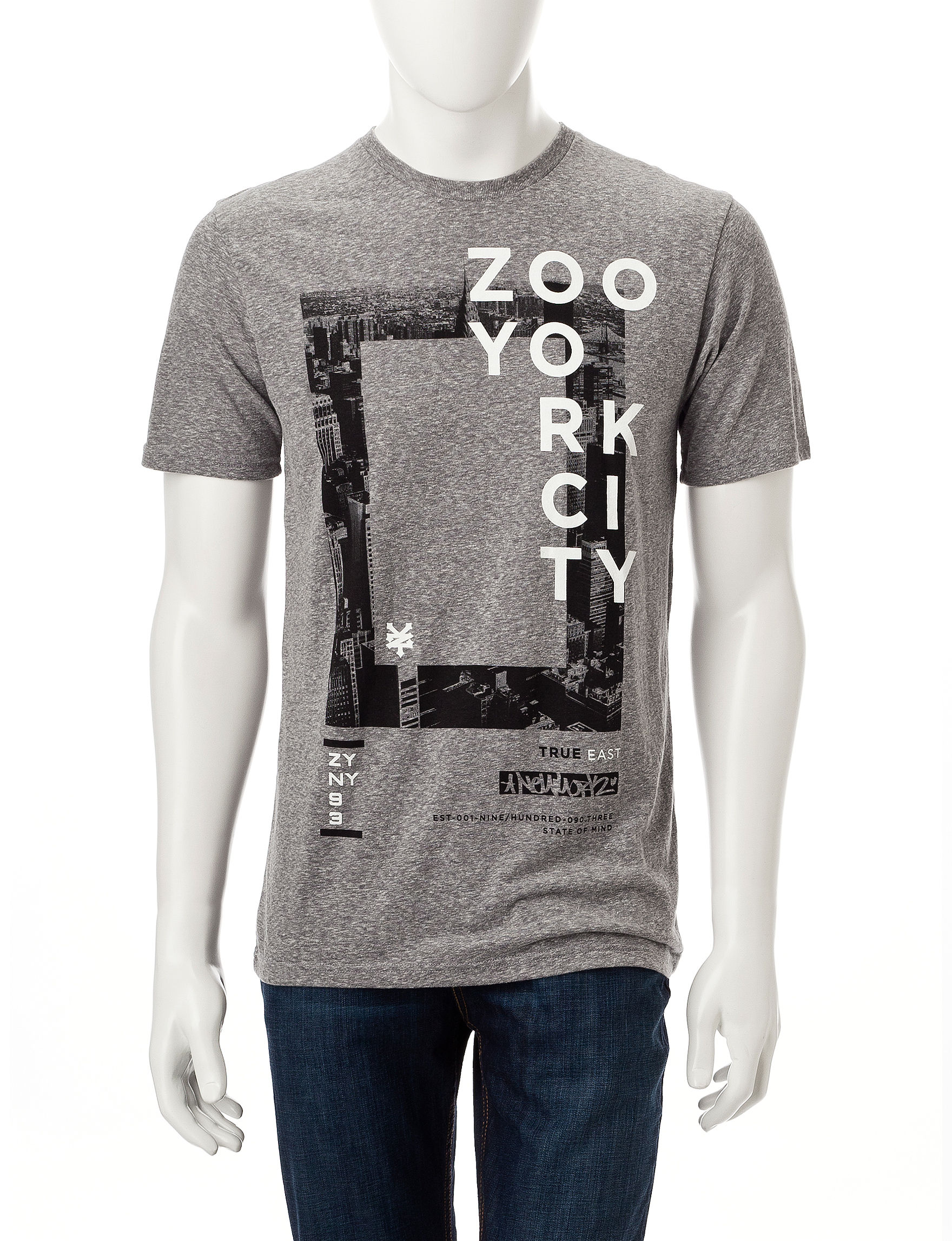 Zoo York Grey Tees & Tanks