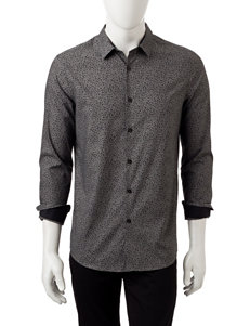 Axist Grey Casual Button Down Shirts