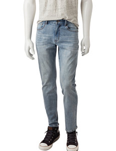 Rustic Blue Slim Straight Stretch Jeans