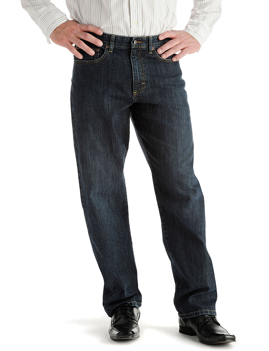 Lee Dark Blue Relaxed Straight