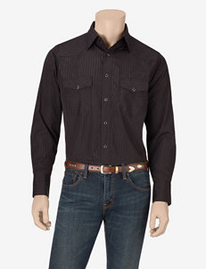 Wrangler Black Casual Button Down Shirts