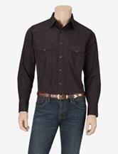 Wrangler® Black Striped Western Shirt