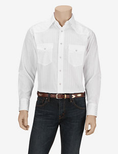 Wrangler® White Striped Western Shirt
