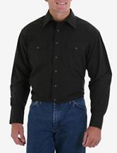 Wrangler® Black Western Shirt