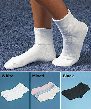 Women's All-Cotton Ankle Socks - 3 Pairs
