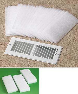 dust control vent filters pkg of 24 - Air Filter Home