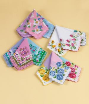 Floral Handkerchiefs - Set of 12