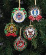 Embroidered Military Ornaments - Each