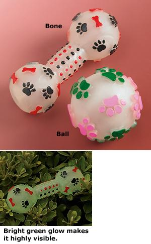 Glow-In-The-Dark Dog Toy - Each