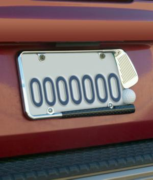 Golfer's License Plate Frame