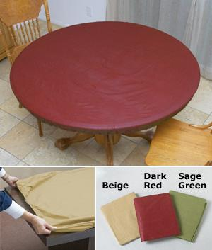 Elasticized Plastic Table Cover - Oblong