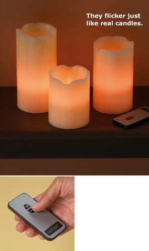 Flameless Candles - Set of 3