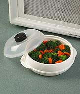 Microwave Steamer with Vented Lid