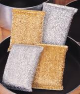 Metallic Pot Scrubbers - Set of 4
