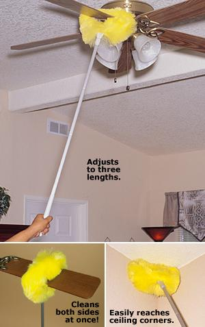 Ceiling fan duster cleaning supplies and tools storage and ceiling fan duster aloadofball Image collections