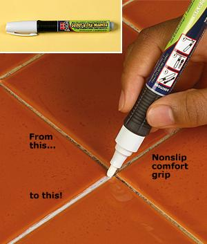Grout Whitening Marker