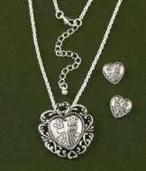 Heart and Cross Pendant