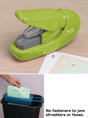 Green Plus Staple-Free Stapler